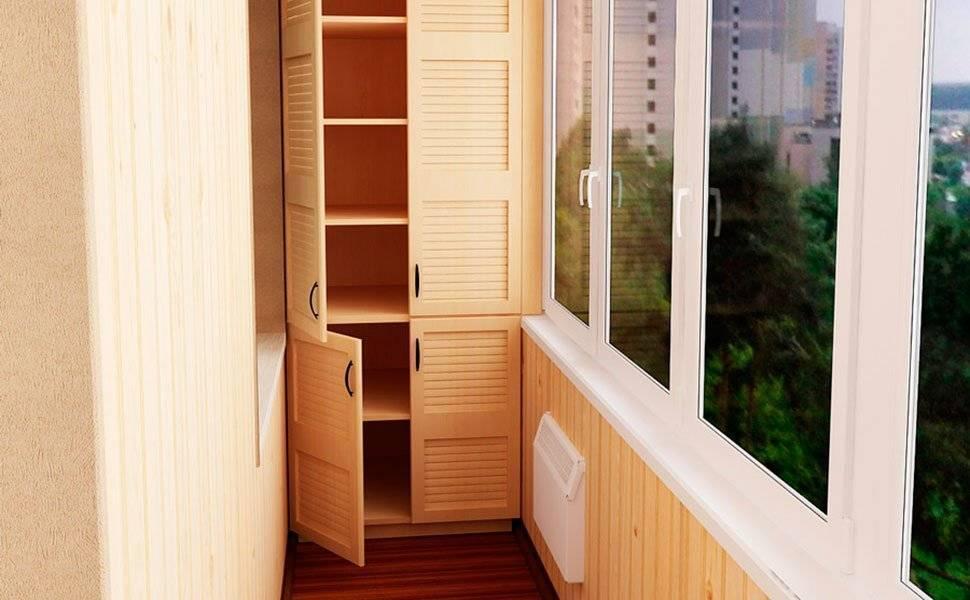 Шкаф на балконе: как его красиво сделать?