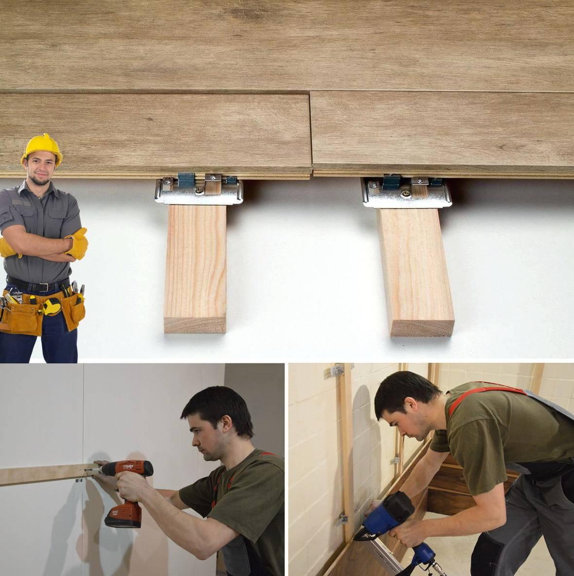 Отделка стен ламинатом – способы крепления, укладка своими руками