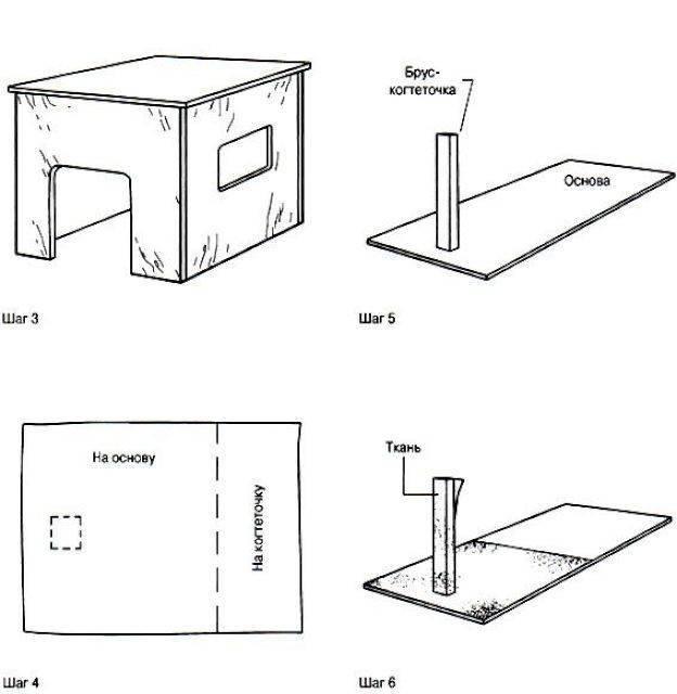 Домик для кошки своими руками: особенности конструкций, подробная инструкция по изготовлению