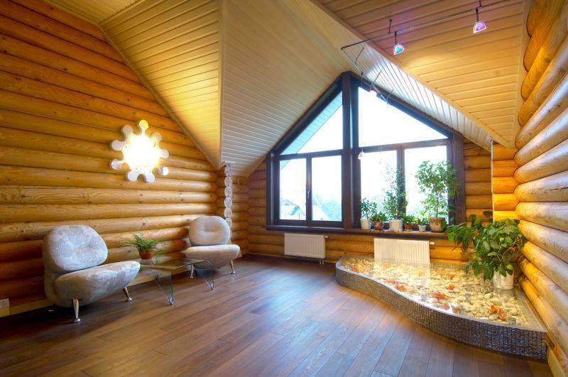 Отделка блок хаусом внутри дома: особенности использования в интерьере, монтаж своими руками (фото)