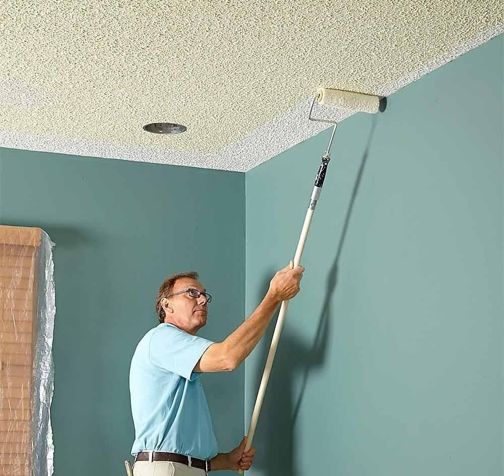 Стоимость покраски стен и потолков