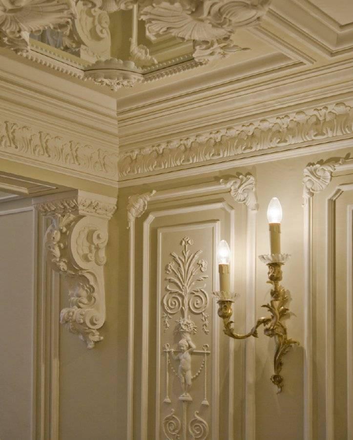 Лепнина на потолок — виды, потолочная лепнина из полиуретана, гипса, пенопласта, лепка на потолке, отделка лепниной под люстру, лепной потолок, гипсовый декор