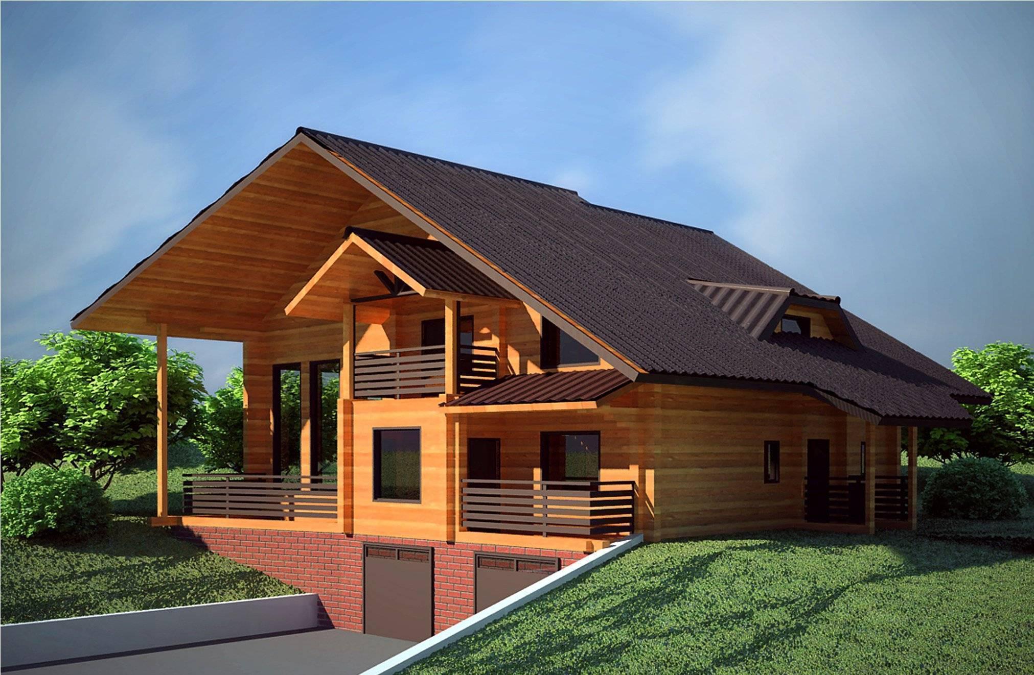 Дома из бруса в стиле Шале: архитектура и материалы