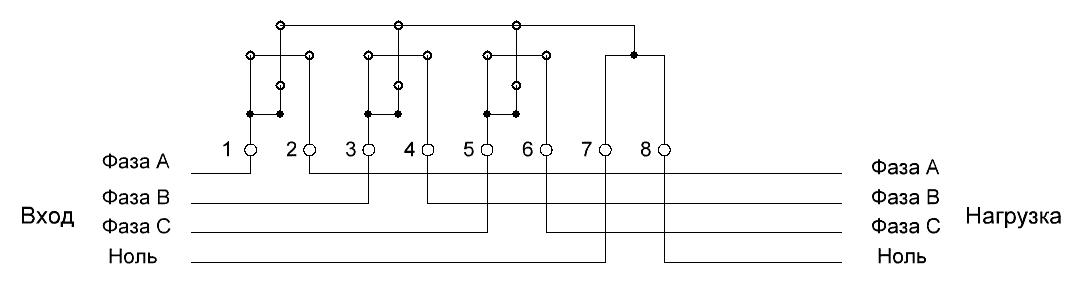 Подключение трехфазного электросчетчика | энергомера се 306