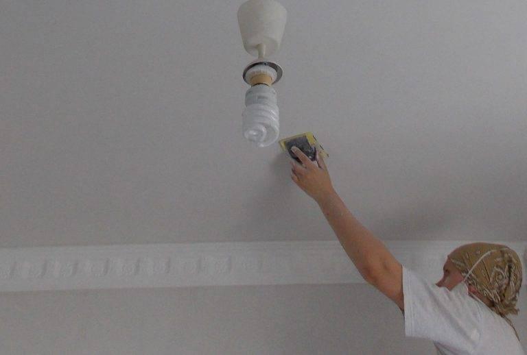 Ремонт покрашенного потолка и исправление ошибок покраски