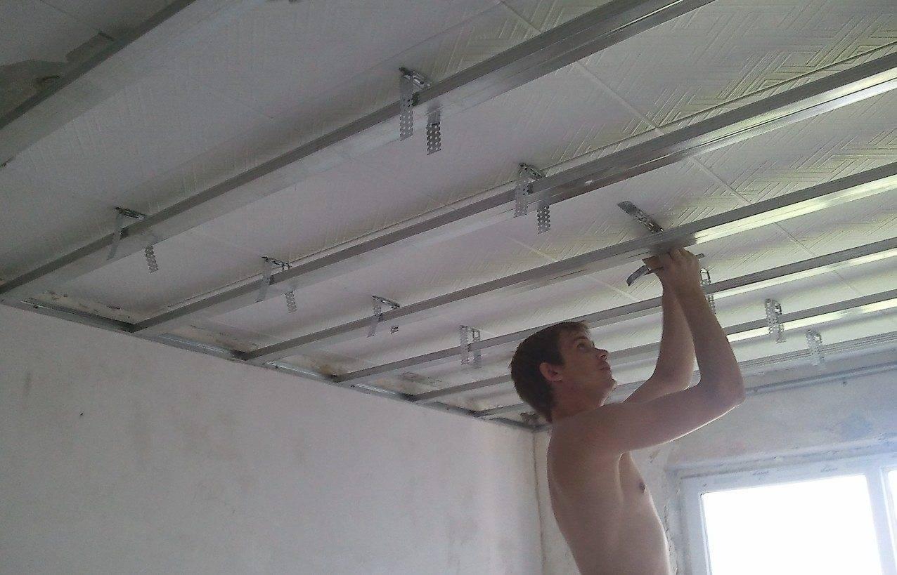 Подшивка потолка гипсокартоном – как сделать ремонт в доме своими руками