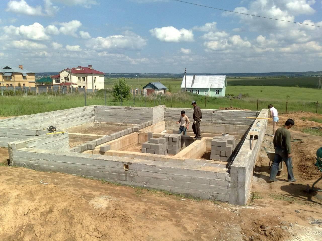 Этапы строительства частного дома - от фундамента до крыши