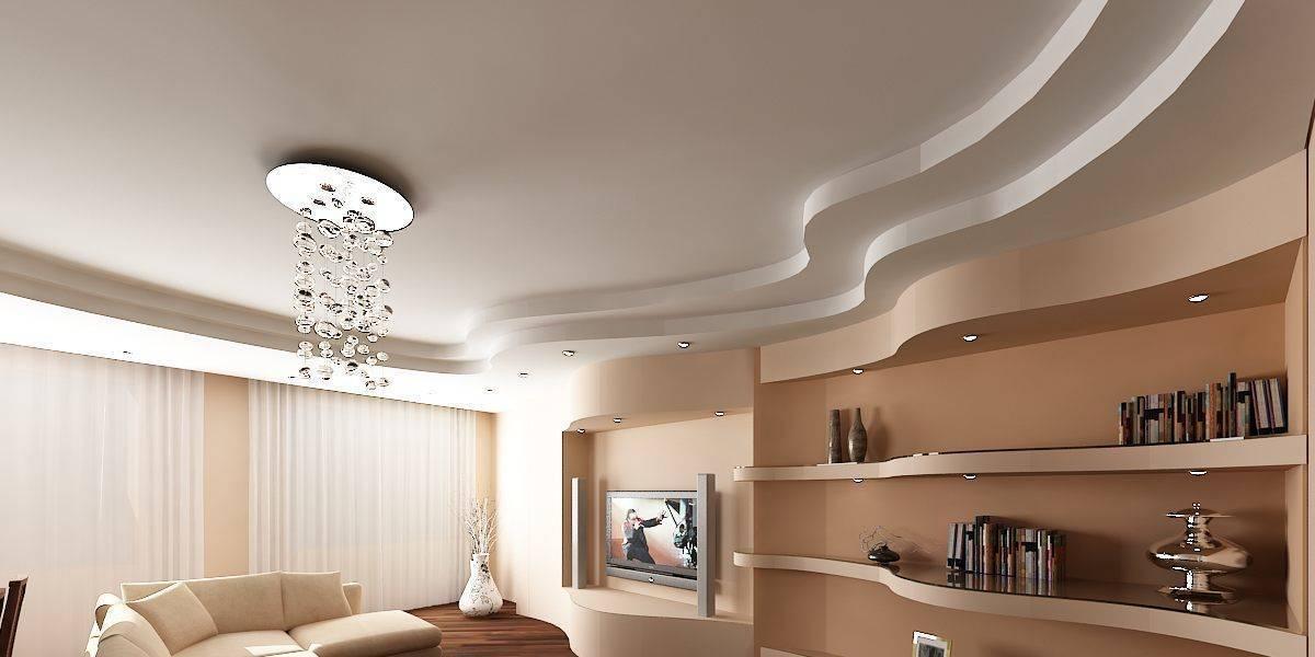 Потолки из гипсокартона +100 фото красивых и фигурных вариантов