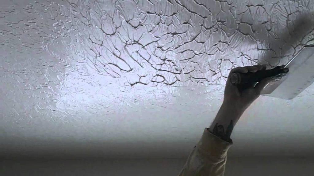 Как сделать фактурный потолок своими руками? технология процедуры