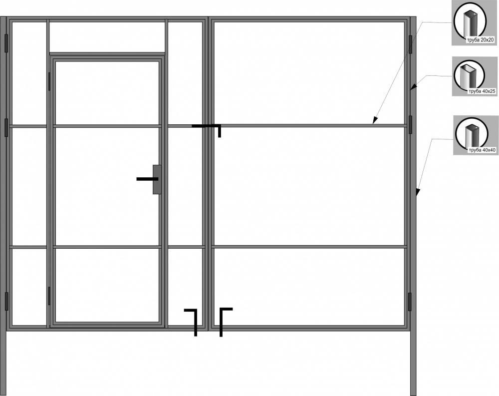 Как сделать ворота деревянные распашные своими руками для дома и дачи: обзор +видео