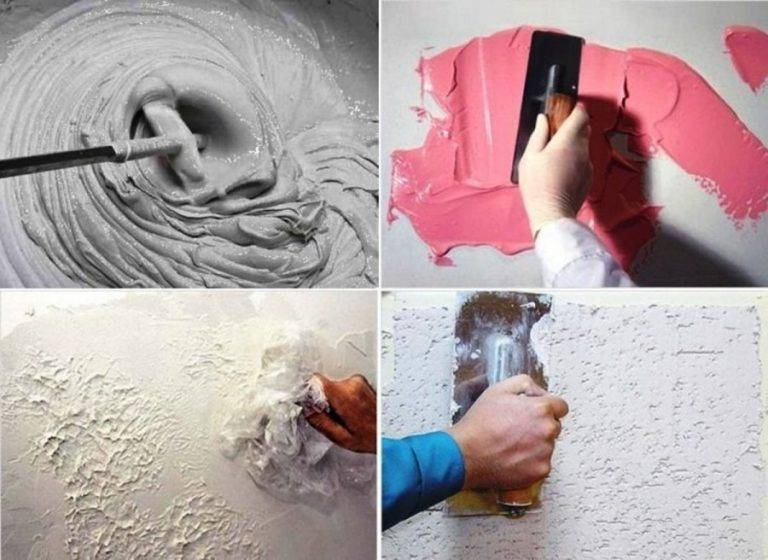 Декоративная штукатурка своими руками из шпаклевки: как сделать и как наносить