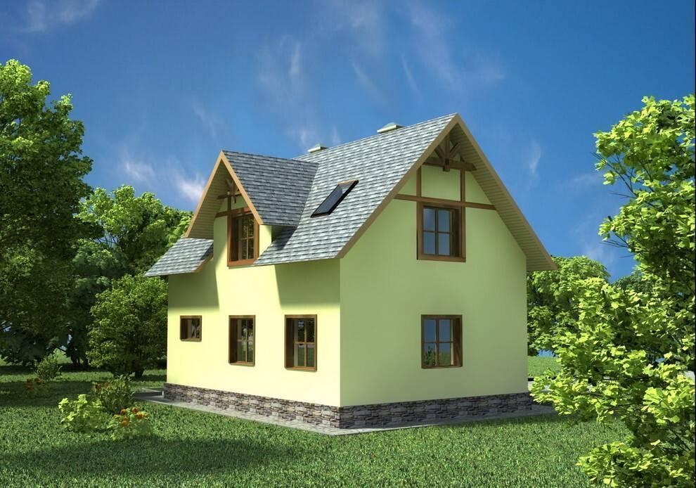 Дешевые проекты домов из пеноблоков. особенности материала. какие блоки выгодней использовать