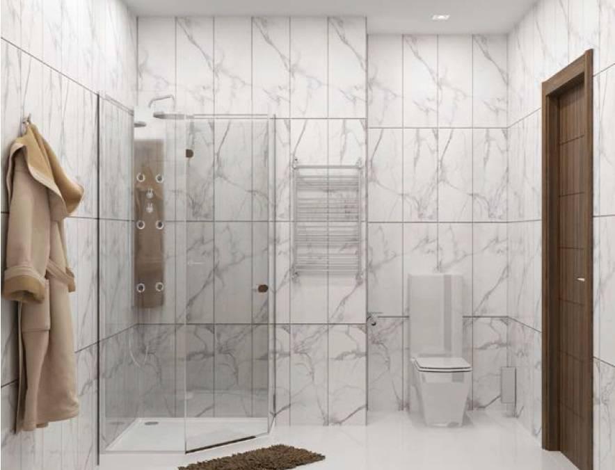 Влагостойкие стеновые панели для ванной комнаты под кафель