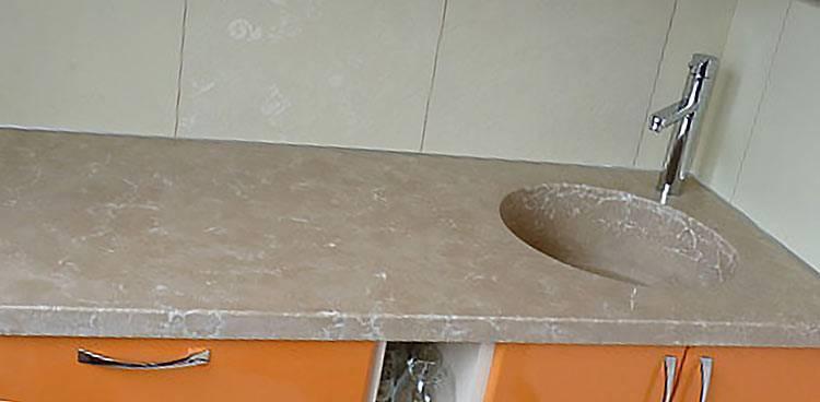 Столешница из жидкого камня для кухни: характеристика, варианты, рекомендации