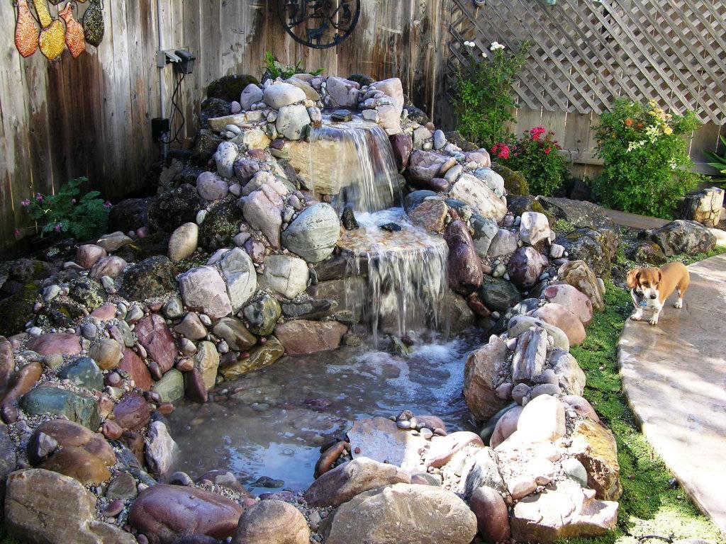 Красивый водопад на даче - 100 фото примеров использования водопада в ландшафтном дизайне