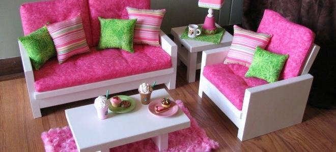 Как сделать мебель для кукол своими руками из картона и подручных материалов: шкаф, кресло для кухни