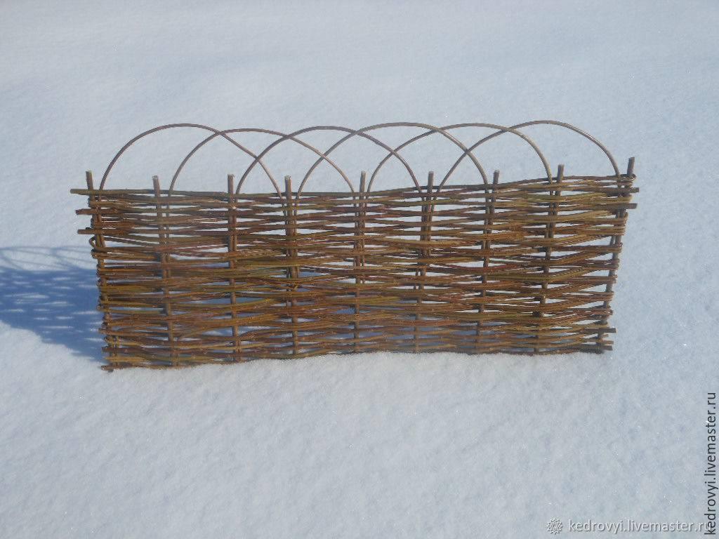 Плетеный забор своими руками (из веток и досок) много пошаговых фото