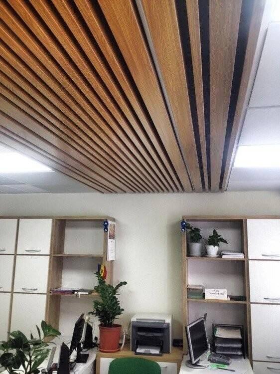 Дизайн и стоимость кубообразного реечного потолка