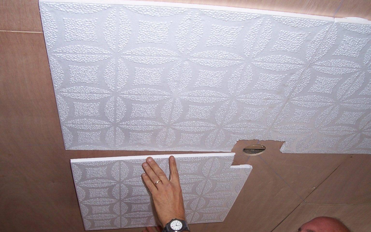 Бесшовная потолочная плитка: монтаж и характеристика