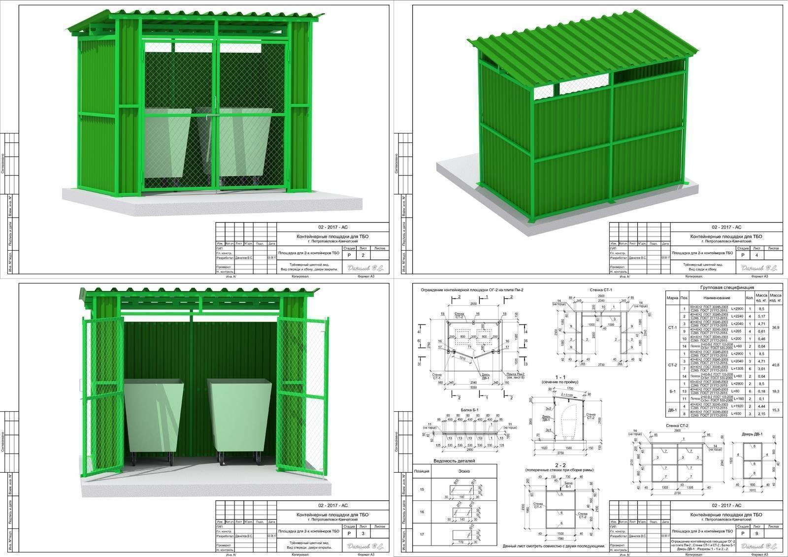 Санитарные нормы для установки мусорных контейнеров