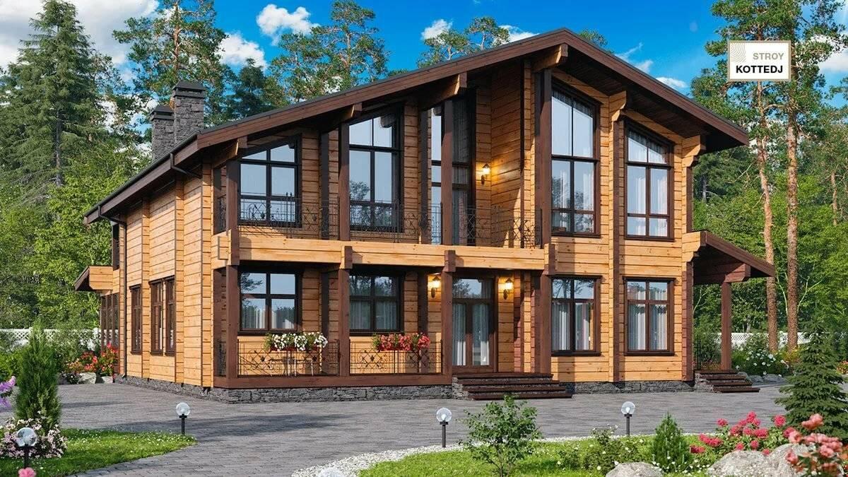 Проект дома два этажа деревянный. проектирование двухэтажных домов из дерева