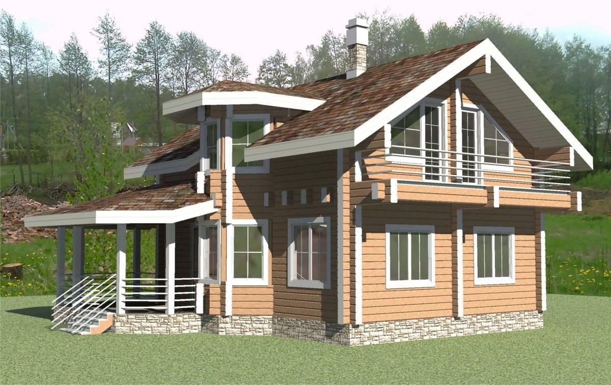 Особенности строительства дома из бруса с эркером