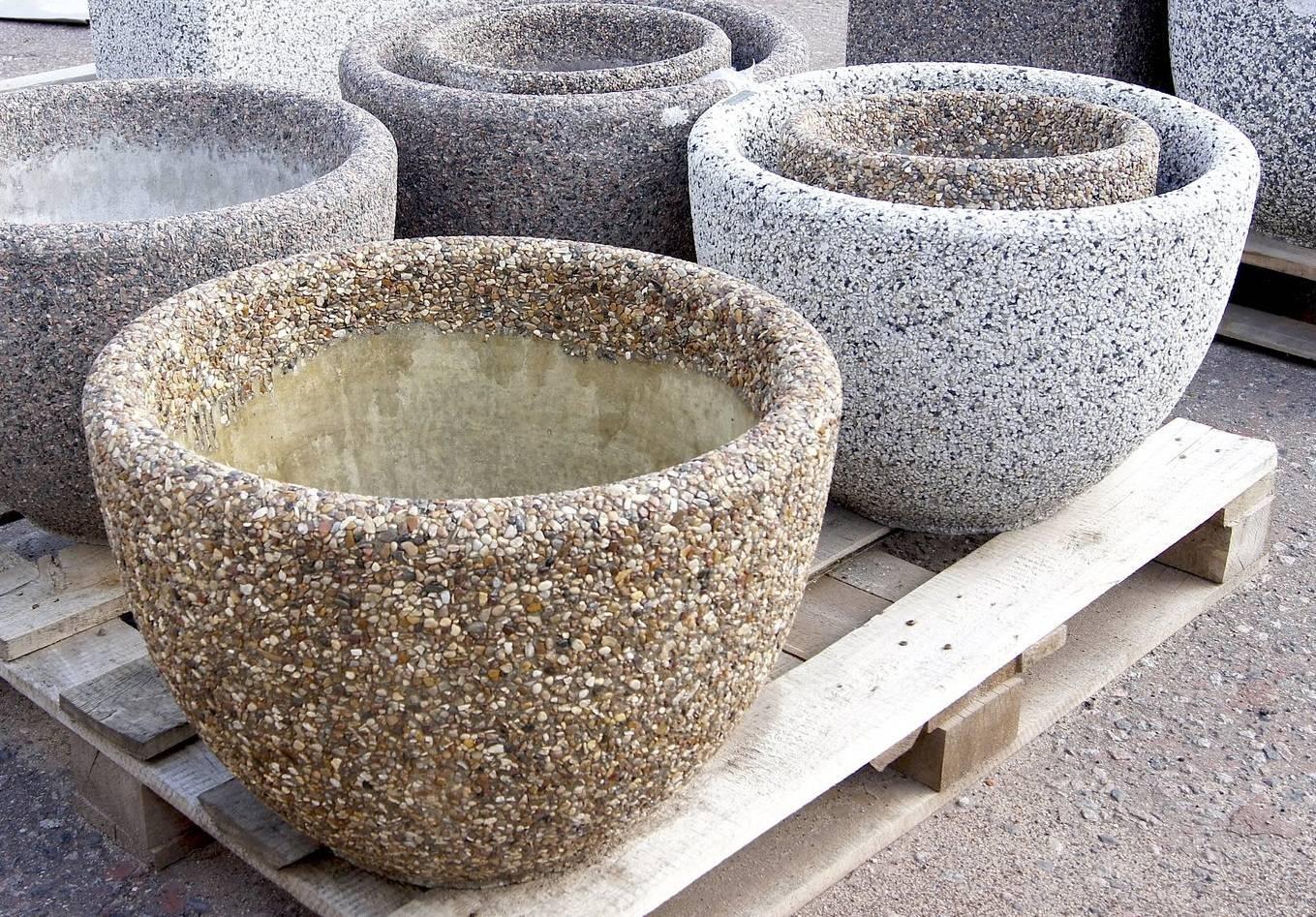 Как сделать вазоны бетонные (из бетона) для цветов уличные своими руками