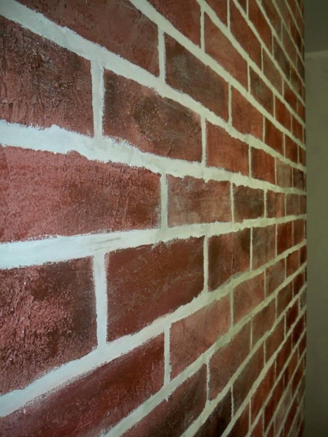Как сделать кирпичную стену своими руками из шпаклевки, основные этапы и сложности