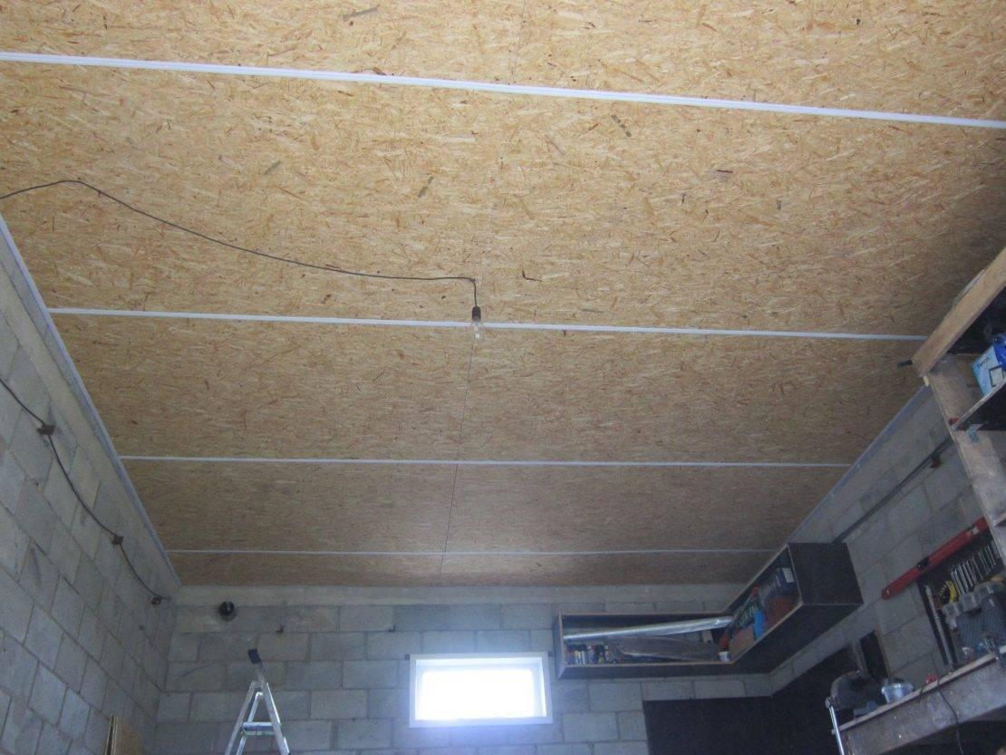 Как сделать потолок из осб плит и осуществить его отделку