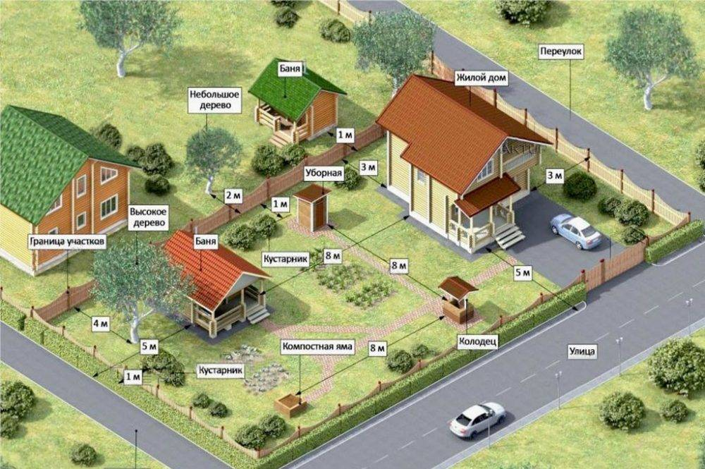 Расстояние от деревьев до забора, дома и коммуникаций по новым санитарным правилам