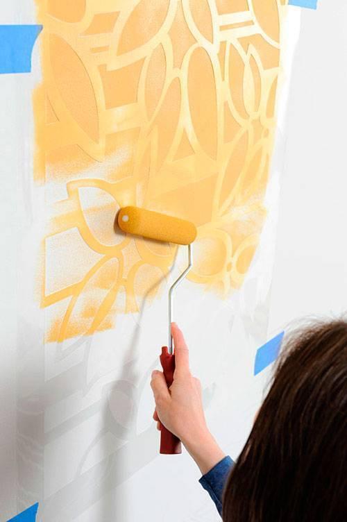 Трафареты для стен под покраску своими руками