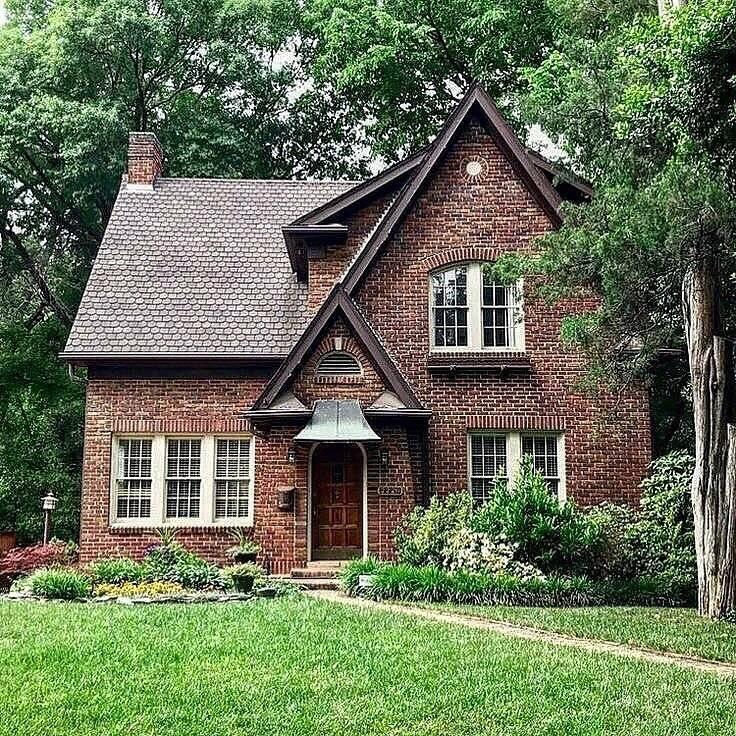 Дом из кирпича — лучшие типовые дизайн-проекты. 150 фото современных вариантов кирпичных домов