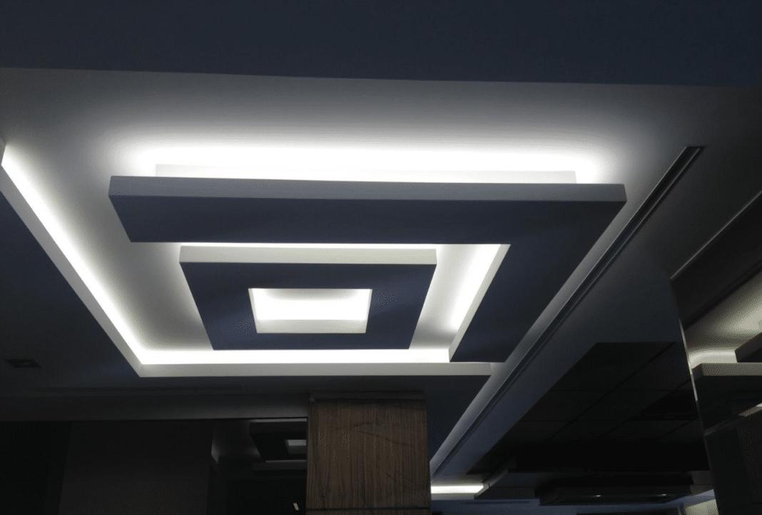 Многоуровневые потолки из гипсокартона с подсветкой: инструкция по устройству, видео и фото