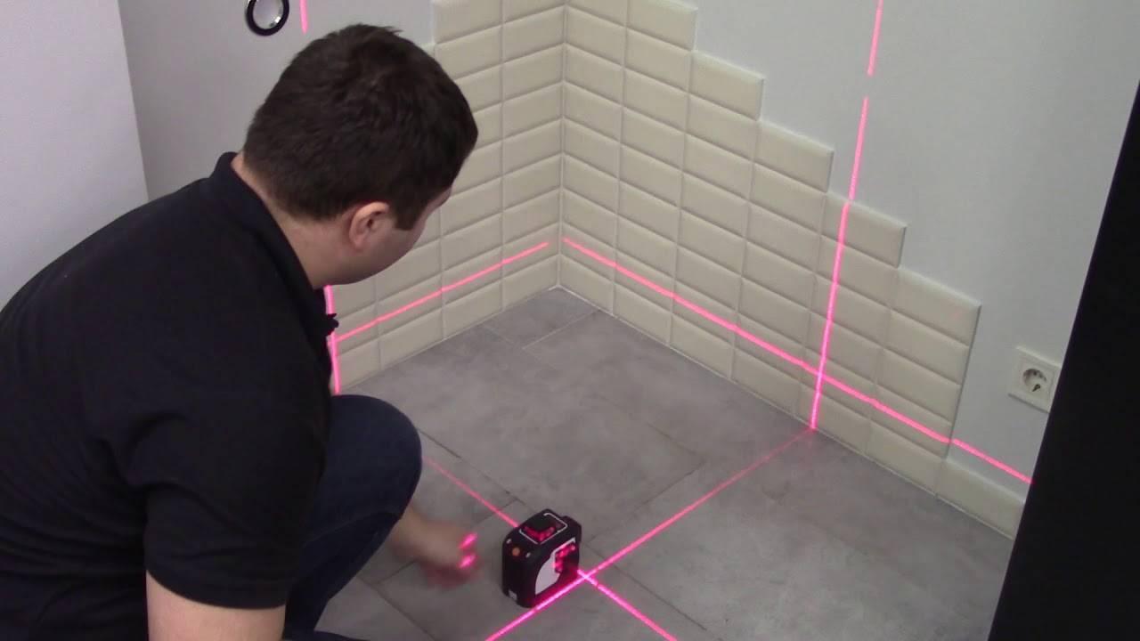 Как пользоваться лазерным уровнем для выравнивания пола и стен