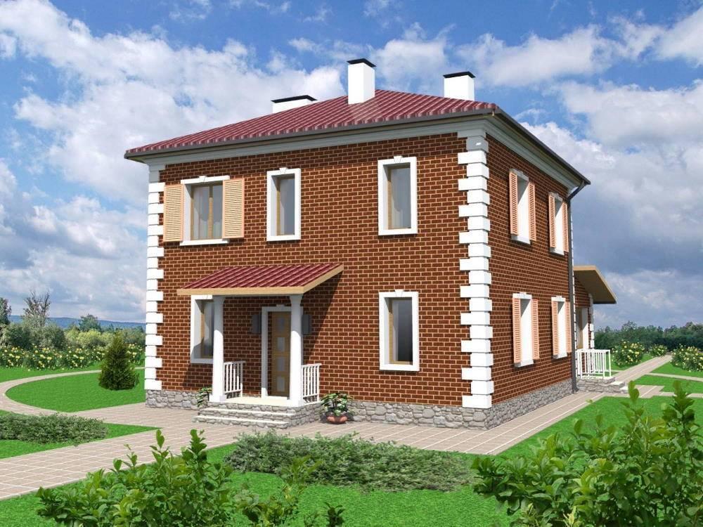 Проекты двухэтажных домов из кирпича: расчет цены и фото