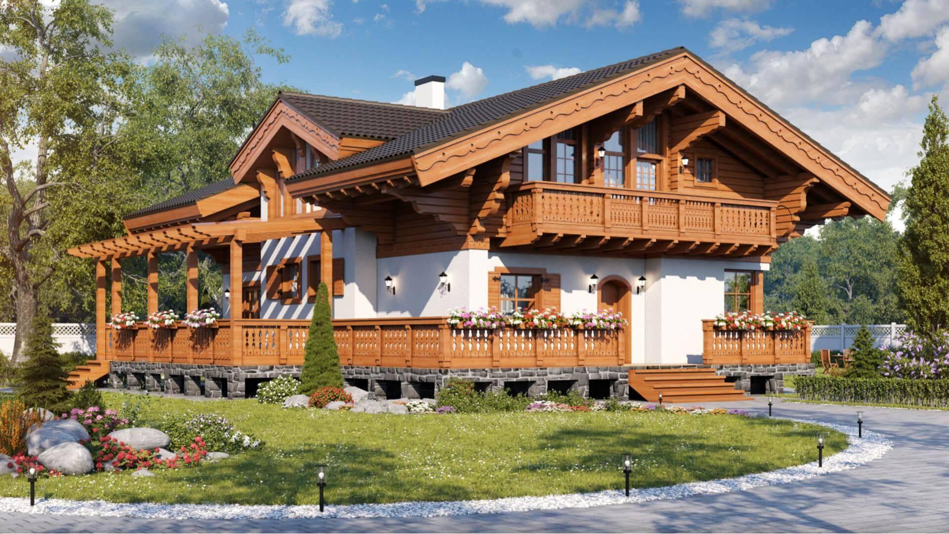 Дома в стиле шале: особенности, обустройство фундамента, утепление, создание внутреннего интерьера, фотогалерея