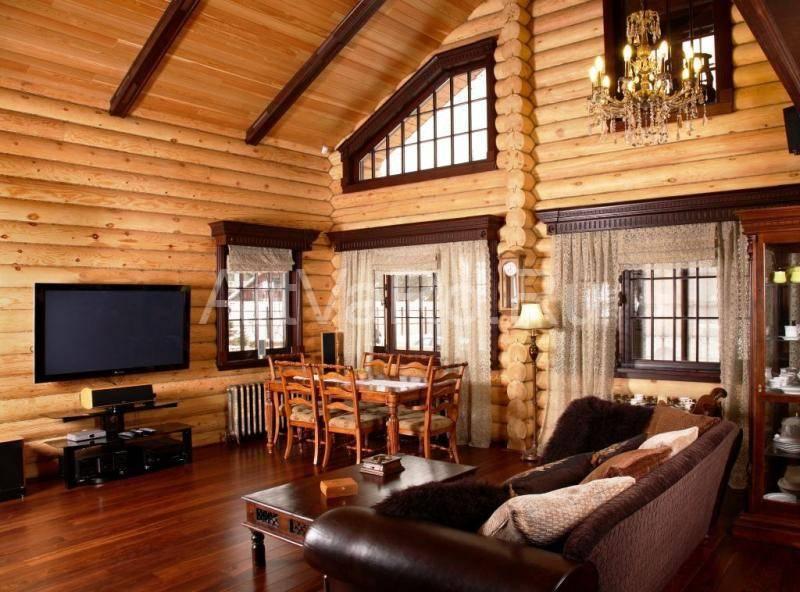 Деревянный дом внутри: оригинальные идеи стильного интерьера