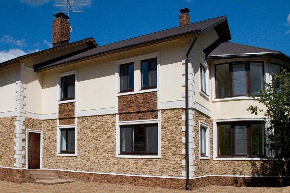 Отделка фасадов частных домов с фото и материалы для облицовки