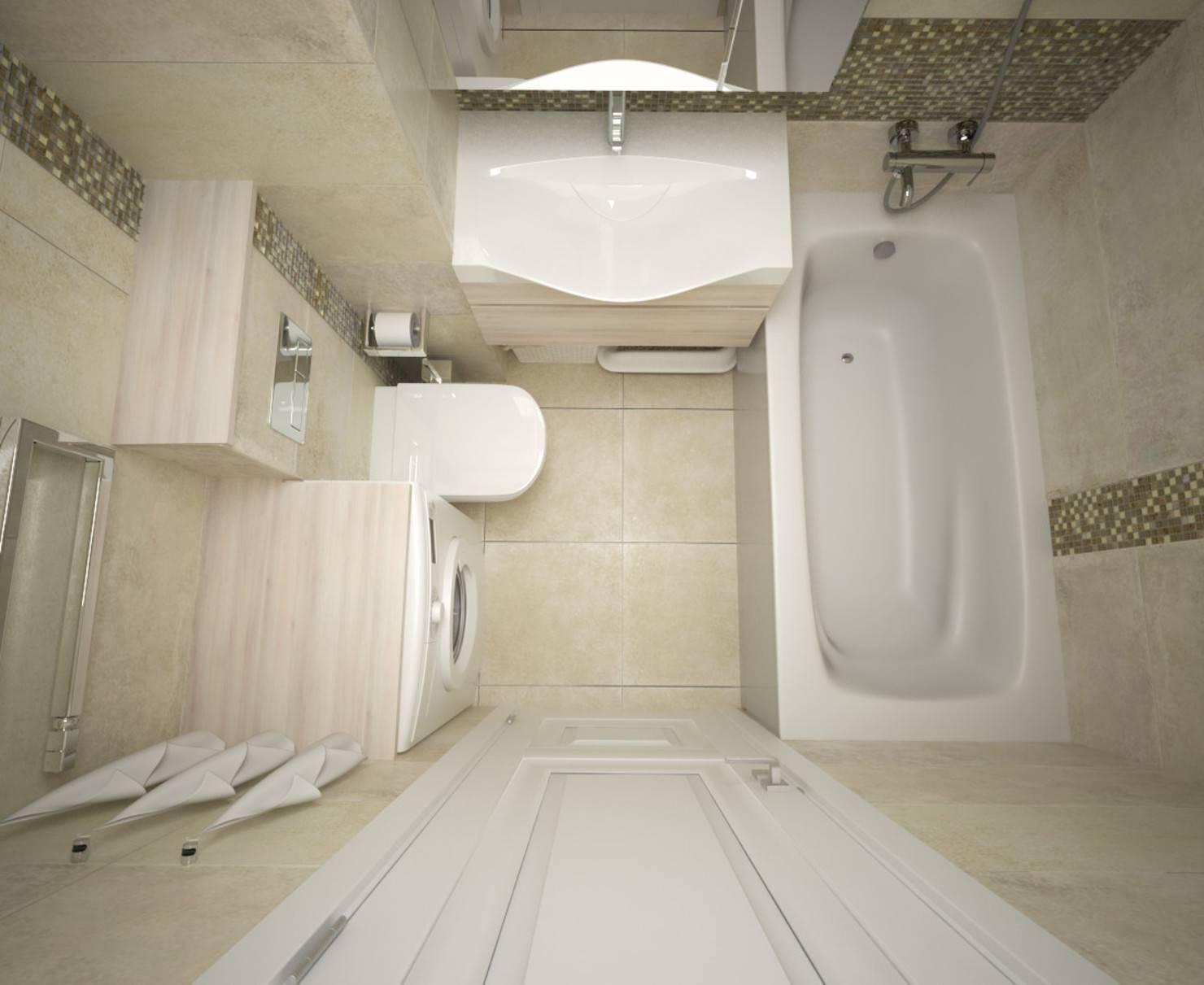 Планировка и дизайн для маленькой ванной комнаты площадью 3 м²