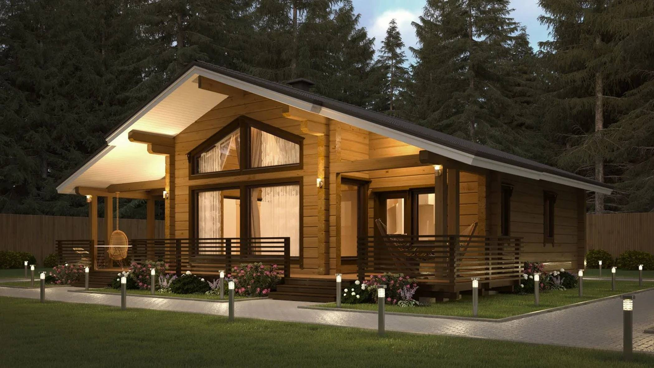 Шале - строительство дома из бруса за 4248850руб под ключ   русский стиль