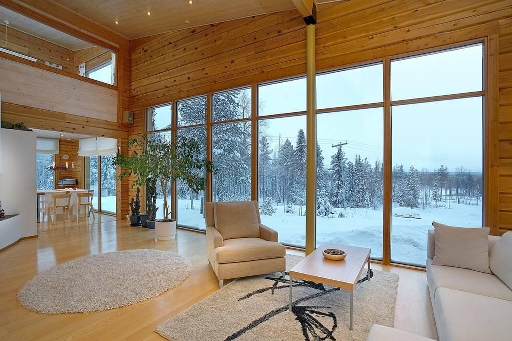 Дом с панорамными окнами: фото проектов, установка и уход