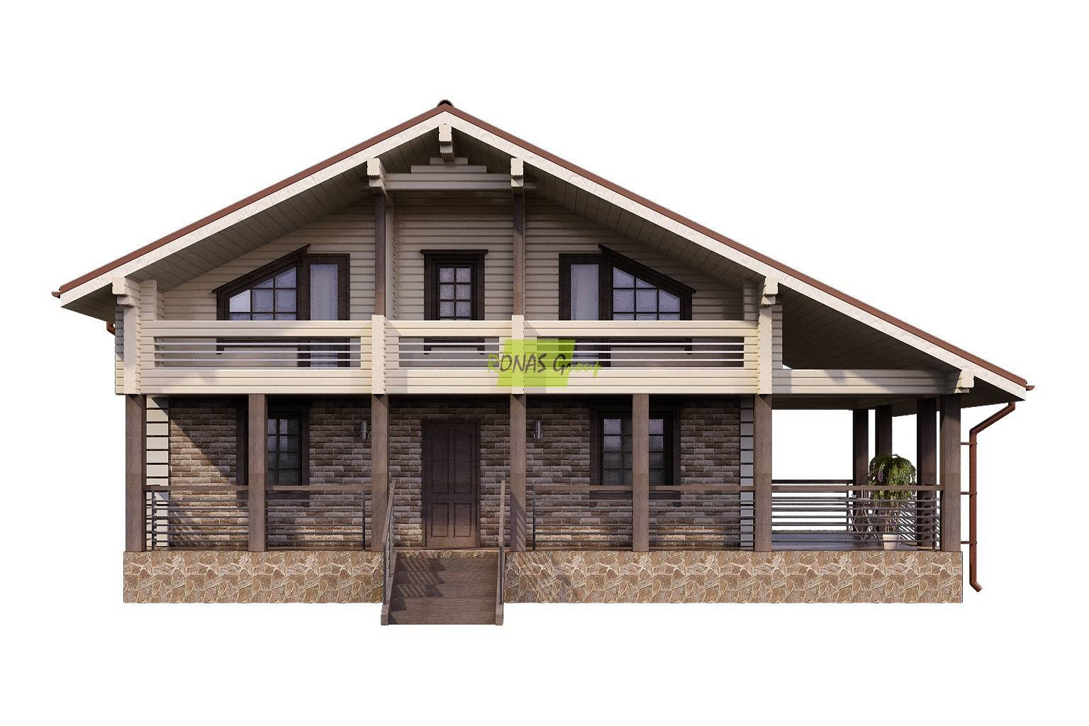 Дом в стиле шале - особенности конструкции, практичность и функциональность загородного дома (фото + видео)
