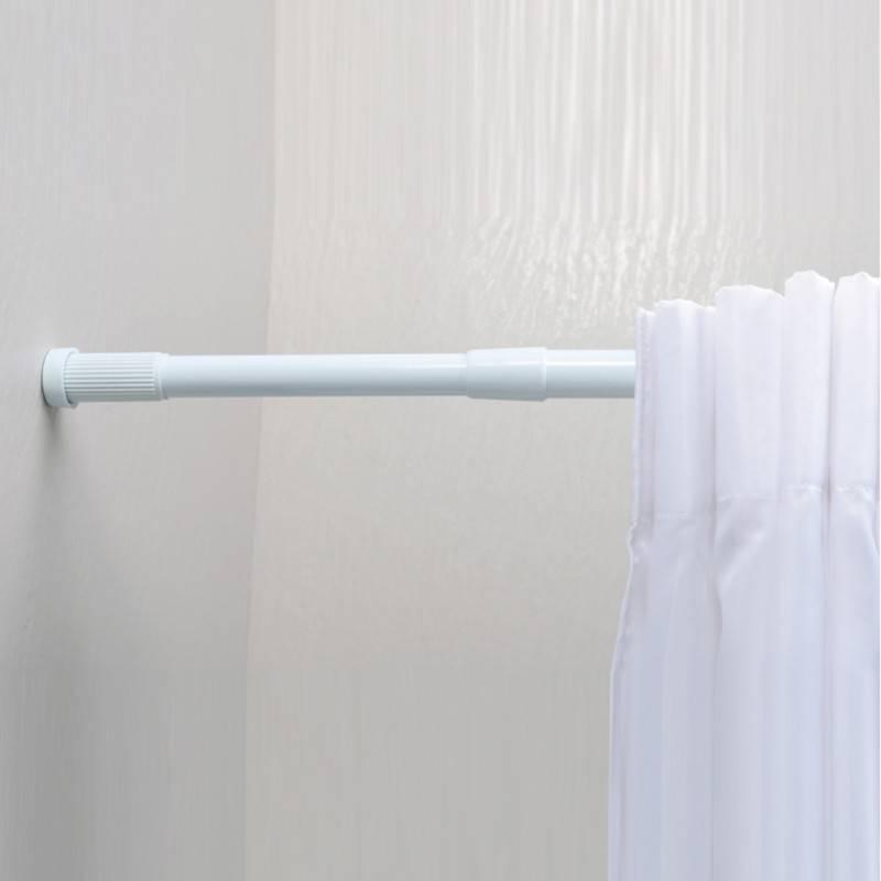 Штанга для шторки в ванную: как выбрать и установить своими руками, труба,держатель, угловая,перекладина для ванной шторки, крепление.