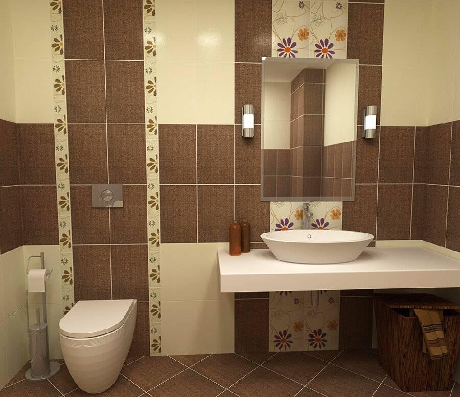 Раскладка плитки в ванной - варианты сочетаний и дизайнерские фишки