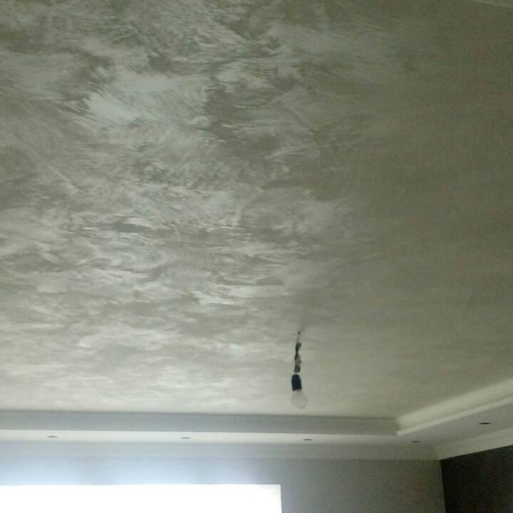 Декоративная штукатурка на потолке, облицовка потолка декоративной штукатуркой, инструкция, видео