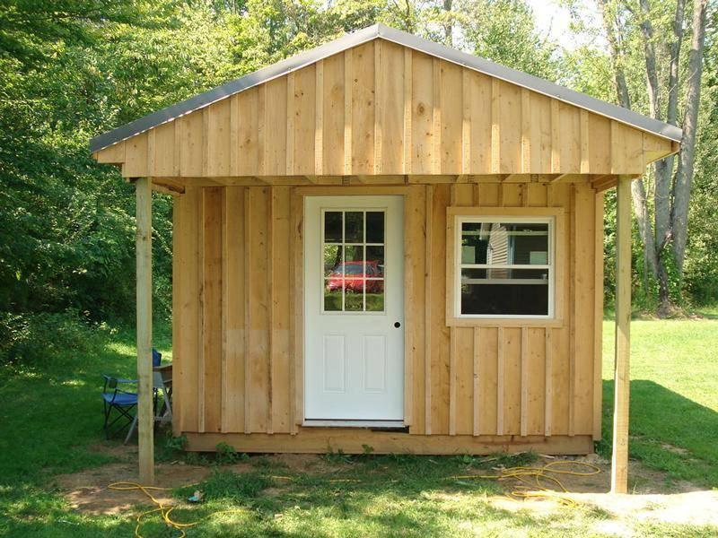 Из чего и как построить недорогой садовый домик или бытовку для дачи?