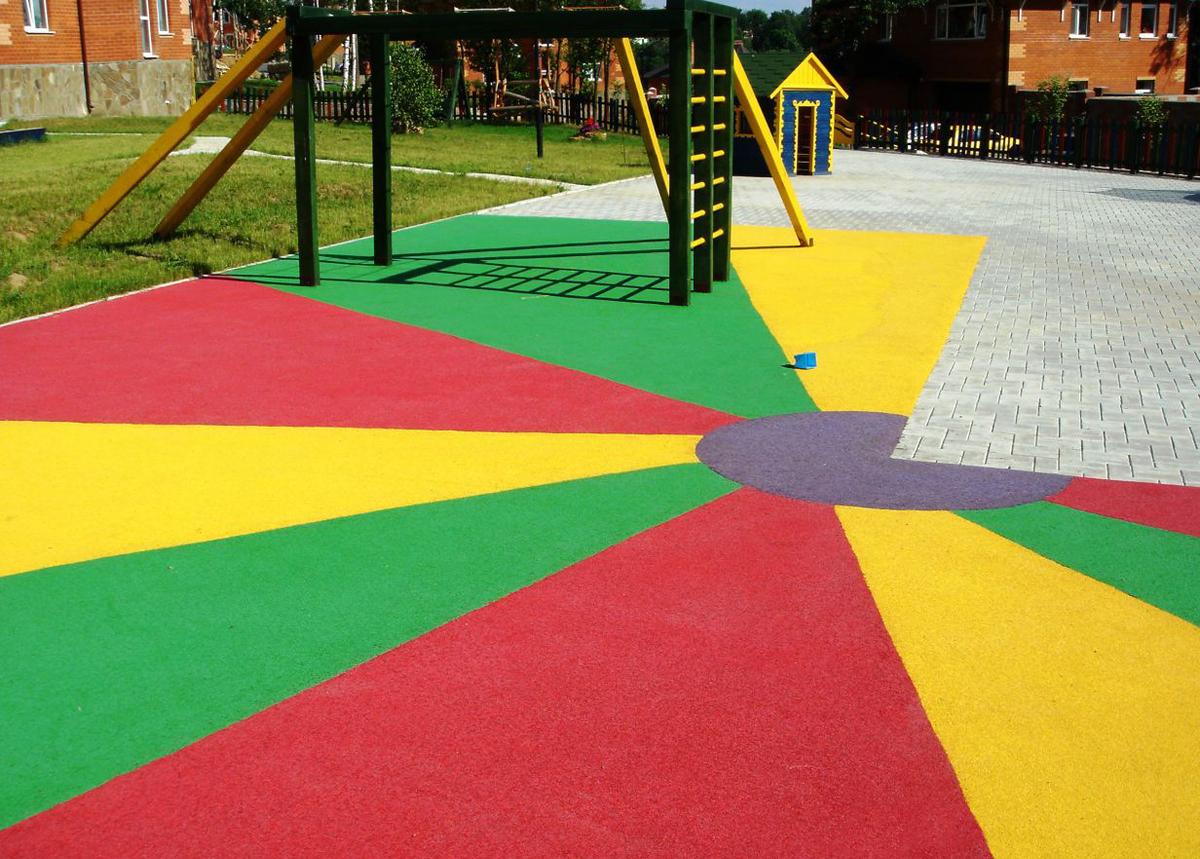?? резиновое покрытие для детских площадок: критерии выбора, производители, функционал