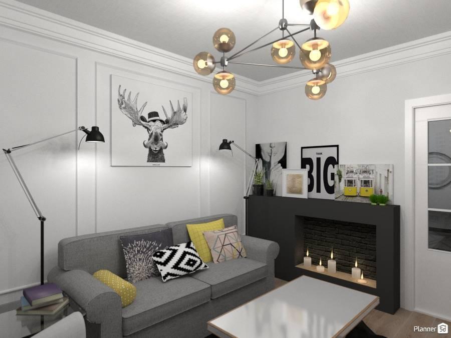 16 стильных интерьеров с молдингами на стенах