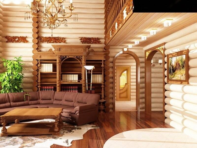 Интерьер деревянного дома: идеи, стили, оформление и дизайн для загородных домов