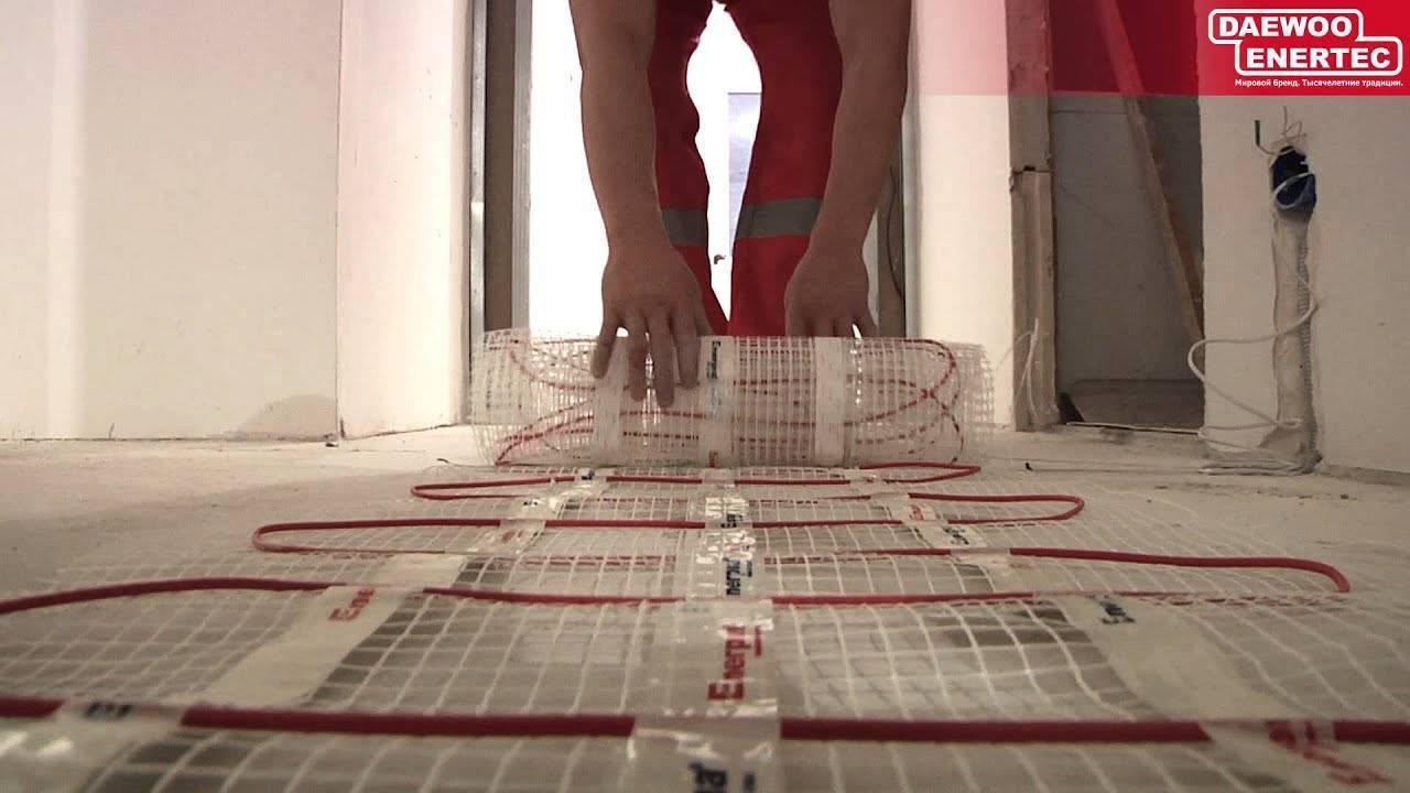 Инфракрасный теплый пол под плитку: особенности использования и монтаж
